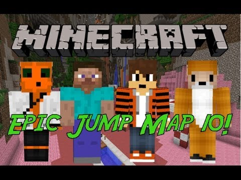 Minecraft - Epic Jump Map Halloween w/ Friends FINALE!