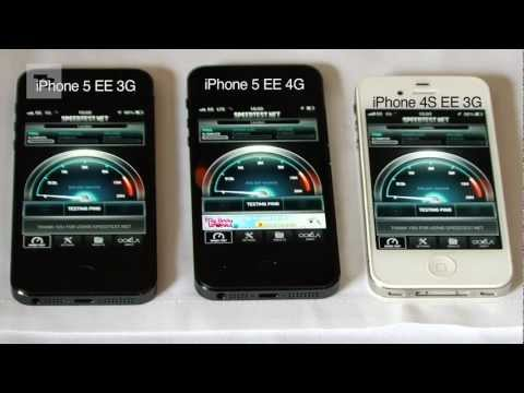 iPhone 5 4G UK EE Speed Test