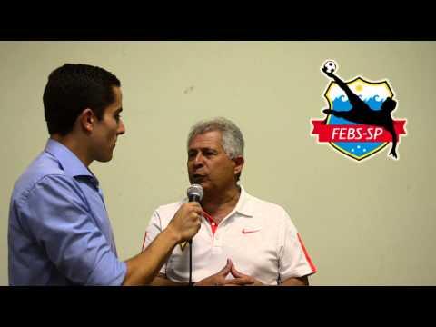 Edmundo Lima Filho, o criador das regras da modalidade, ministrou aulas teóricas e práticas do Curso de Formação de Árbitros de Beach Soccer.