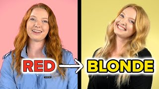 A Redheaded Woman Goes Blonde For A Week