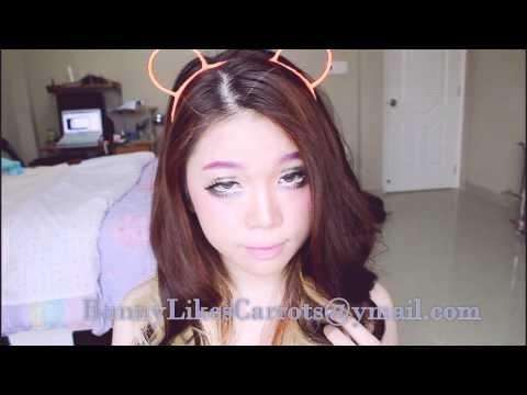 Halloween Makeup: Cách trang điểm giống cô gái trong truyện tranh ( Anime Girl makeup tutorial )