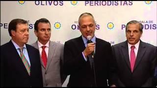 09 de JUN. Conferencia de prensa de los gobernadores de provincias petroleras.
