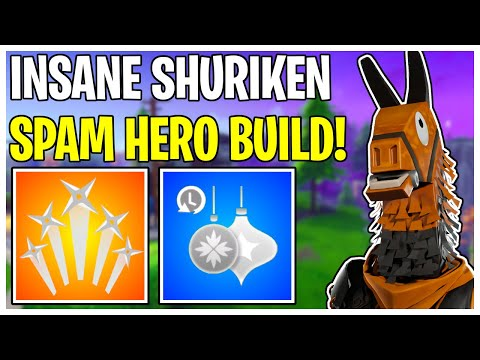 NEW 2 Second Cooldown Ninja Build! Shuriken Spamming Hero Loadout | Fortnite Save The World