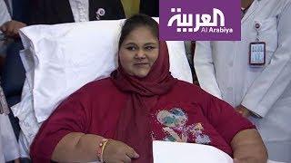 بالفيديو.. تقرير خاص عن رحيل أسمن امرأة في العالم | قنوات أخرى