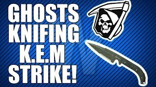 COD Ghosts: Throwing Knife/Knife Only KEM Strike! (Ghosts