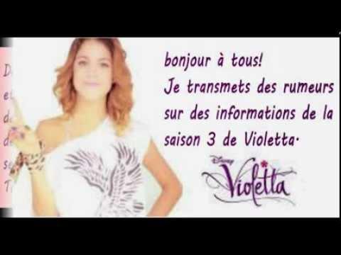 Violetta saison 3 rumeurs youtube - Info violetta ...