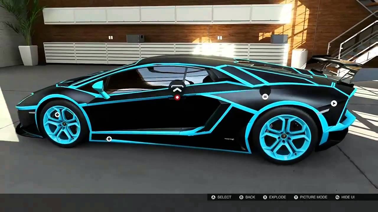 forza 5 tron lamborghini aventador youtube. Black Bedroom Furniture Sets. Home Design Ideas