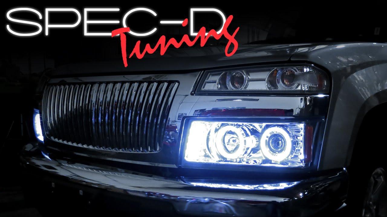 Spec D Tuning Headlight Wiring Diagram Diagrams 2005 Honda Accord Specdtuning Installation Video 2004 2011 Chevy Colorado Headlights Tacoma