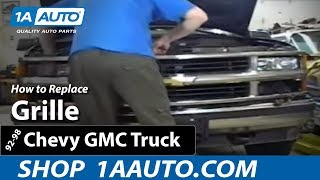 How To Install Replace Grille 92-98 Chevy Silverado GMC