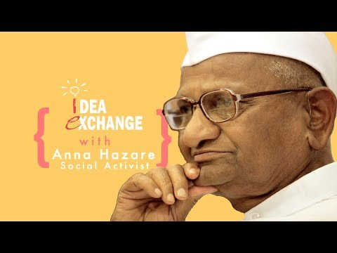 Arvind has asked me to unveil the Delhi Jan Lokpal Bill: Anna Hazare at Idea Exchange