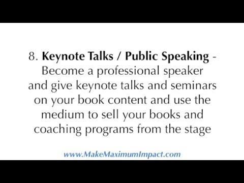 Create 9 Income Streams from one book - #MakeMaximumImpact