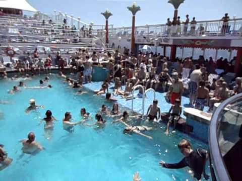 Norwegian Dawn Cruise Pool Deck Avi Youtube