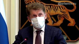 Олег Кожемяко на заседании оперативного штаба