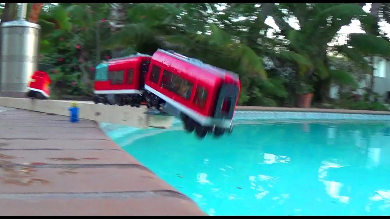 Lego Car Crashes In Water