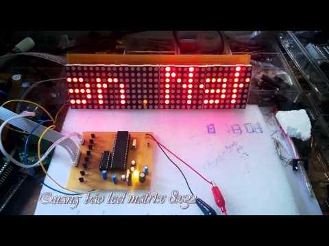 Mạch quang báo led ma trận 8x32 dùng 89