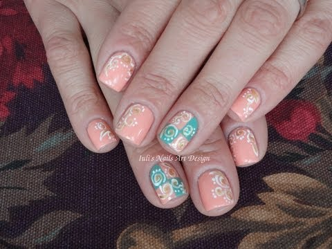 Pastel Spring Swirls On Short Nails Live Tutorial Nails Art