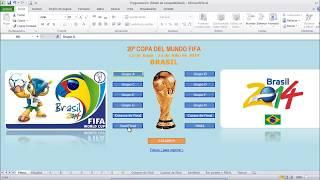 Programación Mundial De Fútbol Brasil 2014 En Excel