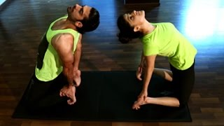 Do yoga with your partner, it helps strengthen the bond