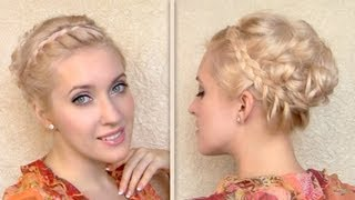 Greek Goddess Hair Tutorial Updo Hairstyle For Shoulder