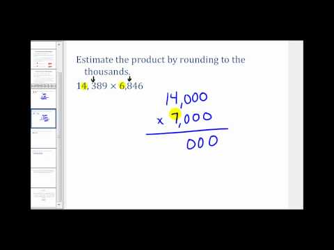 Estimating Multiplication and Division Problems Involving Whole Numbers