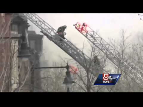 Witness describes 9 alarm fire on Beacon Street in Boston