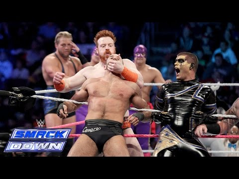 A 15-Man Tag Team Match between Team Teddy & Team Laurinaitis: SmackDown, Oct. 10, 2014