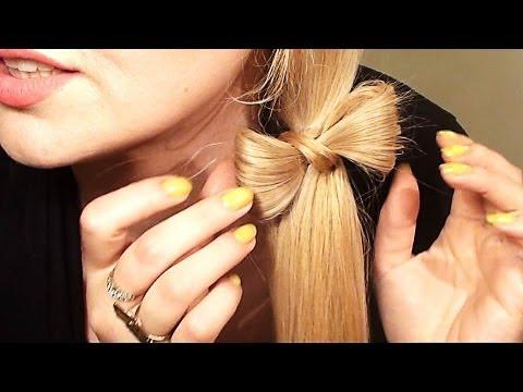 LADO CON UN LAZO o moñito peinado para pelo largo y mediano - YouTube ...
