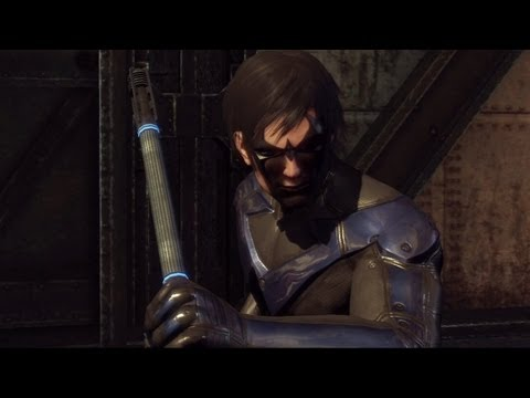 Batman Arkham City - Nightwing Gameplay DLC Review (Combat &amp; Gadgets) [Xbox 360]