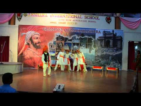 powada of shivaji maharaj(shoubhit's annual day in school(akshara international school)
