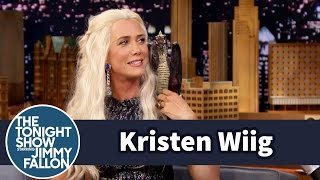 Kristen Wiig as Khaleesi from Game of Thrones