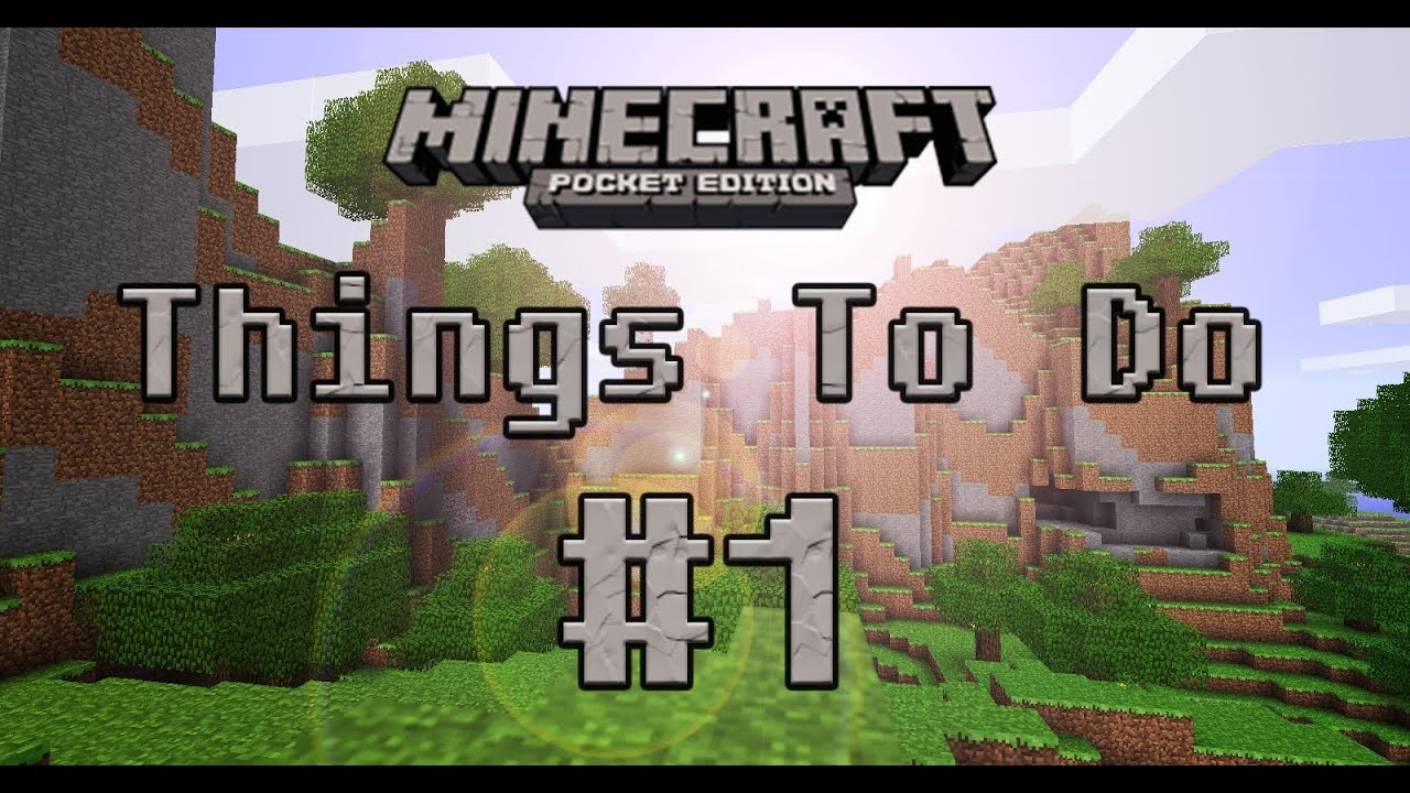 10 Fun Things to Do in Minecraft Pocket Edition - YouTube
