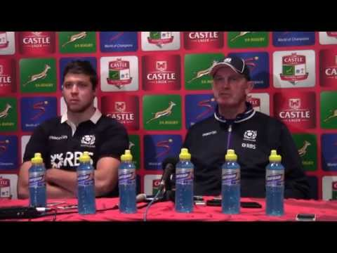 Scotland v South Africa post match press conference