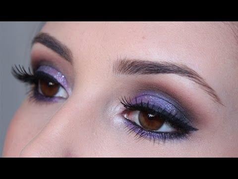 Maquiagem Colorida - Roxo com Azul
