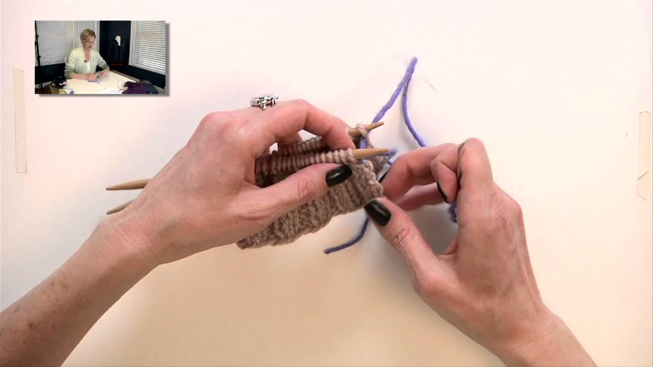 Knitting Stitches Grafting : Knitting Help - Grafting Rib Stitches - YouTube