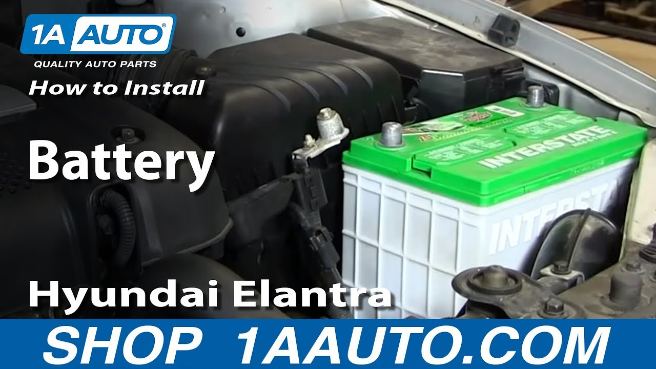 How To Install Replace Change Battery 2001 06 Hyundai