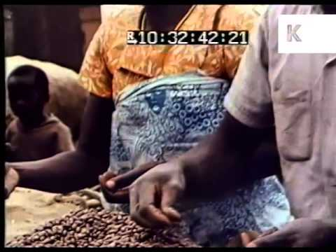 1970s Tanzania, Africa, Market, African People Shopping, Colour Archive Footage