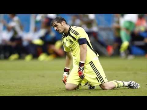 El dia más triste para Iker Casillas en toda su carrera (13/06/2014) MUNDIAL BRASIL 2014