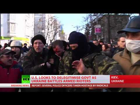 Ukraine riots according to Obama: 'Peaceful protesters' oppressed by govt