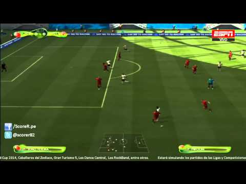 EA SPORTS 2014 FIFA WORLD CUP - Portugal vs Ghana - Group G @ Simulacion PS3