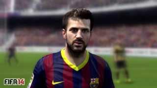FIFA 14 Vs PES 2014 3D Faces Barcelona