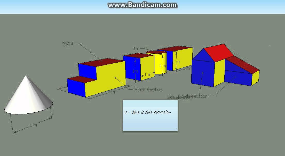 Plan Elevation Of A Cuboid : Plan and elevation of many solid object youtube
