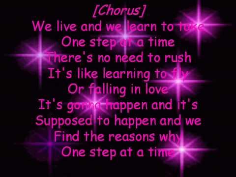 Jordin sparks one step at a time lyrics youtube