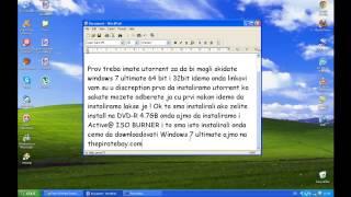 Kako Skinuti I Narezati Microsoft Windows 7 Ultimate X84
