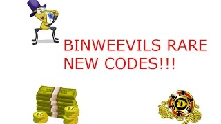 Binweevils Rare New Codes For 2013