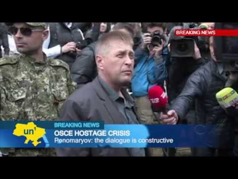 East Ukraine OSCE Hostage Crisis: European mediators in Slovyansk for talks with separatists