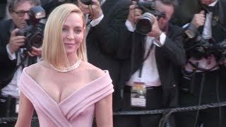 Uma Thurman, President of the Jury for Un Certain Regard on the red carpet in Cannes