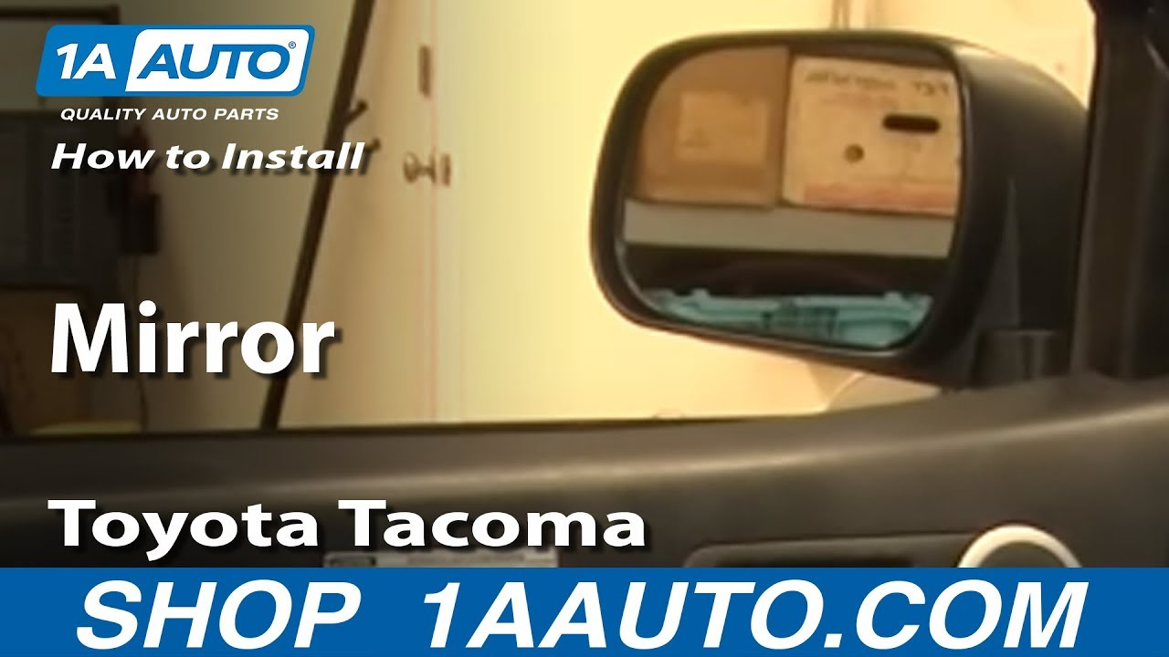 How To Install Replace Side Rear View Mirror Toyota Tacoma