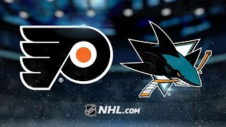 Simmonds tallies hat trick to lead Flyers past Sharks