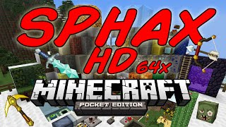 Sphax HD 64x Minecraft PE 0.9.5 Y 0.10.2 Descarga La