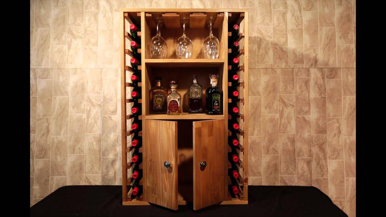Botellero godello capacidad para 22 botellas youtube Botelleros de pared